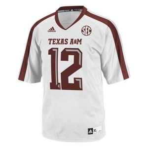 Adidas 12th Man Texas A&M Aggies No.12 Youth - White Football Jersey