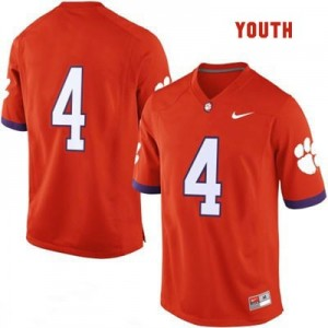 Nike Clemson No.4 College - Orange - Youth Football Jersey