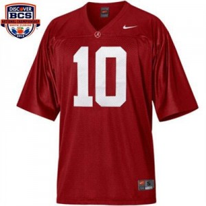 Nike A.J. McCarron Alabama Crimson Tide No.10 BCS Bowl Patch Youth - Crimson Red Football Jersey