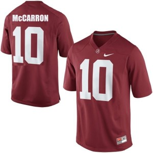 Nike A.J. McCarron Alabama Crimson Tide No.10 - Crimson Red Football Jersey