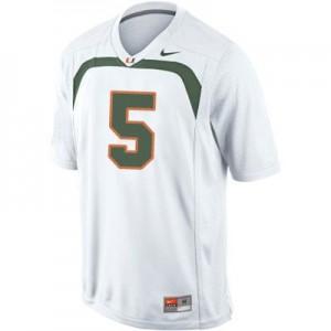 Nike Andre Johnson Miami Hurricanes No.5 - White Football Jersey