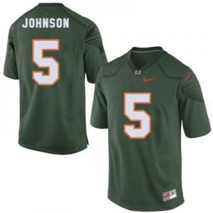 Nike Andre Johnson Miami Hurricanes No.5 Youth - Green Football Jersey
