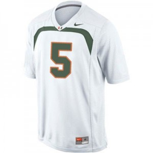 Nike Andre Johnson Miami Hurricanes No.5 Youth - White Football Jersey