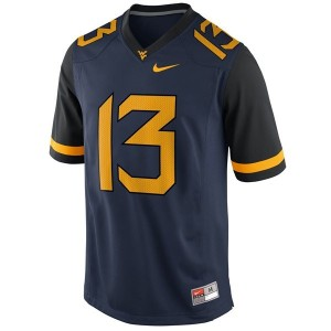 Nike Andrew Buie West Virginia Mountaineers No.13 - Blue Football Jersey