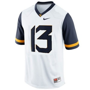 Nike Andrew Buie West Virginia Mountaineers No.13 Youth - White Football Jersey