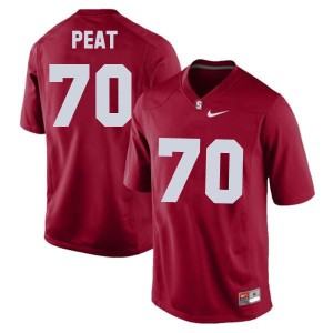 Nike Andrus Peat Stanford Cardinal No.70 - Red Football Jersey