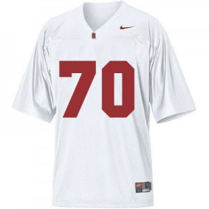Nike Andrus Peat Stanford Cardinal No.70 - White Football Jersey