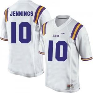 Nike Anthony Jennings LSU Tigers No.10 Youth - White Football Jersey