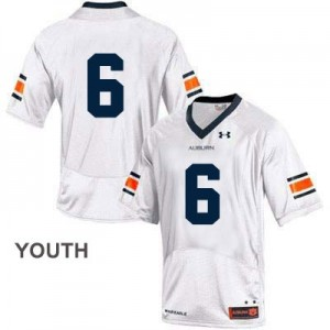 Under Armour Auburn Tigers No.6 College - White - Youth Football Jersey