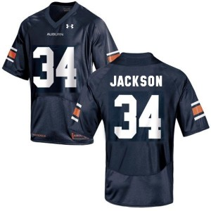 Under Armour Bo Jackson Auburn Tigers No.34 Youth - Navy Blue Football Jersey