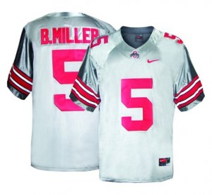 Nike Braxton Miller Ohio State Buckeyes No.5 - Gray Football Jersey