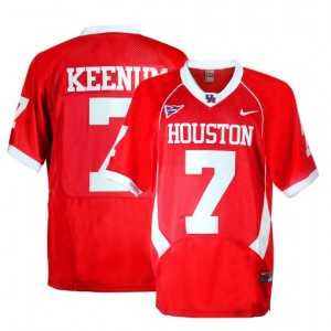 Nike Case Keenum Houston Cougars No.7 Youth - Red Football Jersey