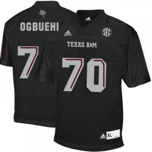 Adidas Cedric Ogbuehi Texas A&M Aggies No.70 Youth - Black Football Jersey