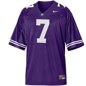 Nike Collin Klein Kansas State Wildcats No.7 Youth - Purple Football Jersey