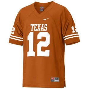 Nike Colt McCoy Texas Longhorns No.12 Youth - Orange Football Jersey