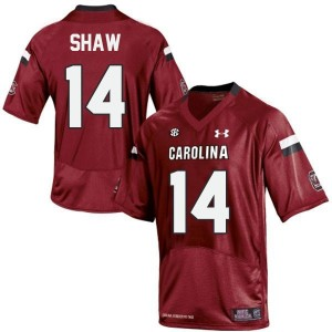 Under Armour Connor Shaw South Carolina Gamecocks No.14 - Red Football Jersey
