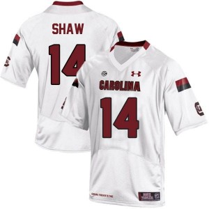 Under Armour Connor Shaw South Carolina Gamecocks No.14 Youth - White Football Jersey