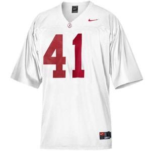 Nike Courtney Upshaw Alabama Crimson Tide No.41 - White Football Jersey