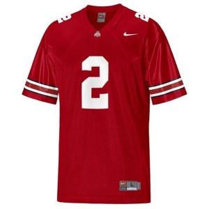 Nike Cris Carter Ohio State Buckeyes No.2 Youth - Scarlet Red Football Jersey