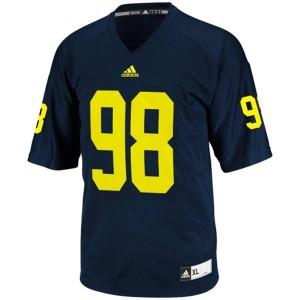Adida Devin Gardner UMich Wolverines No.98 - Navy Blue Football Jersey