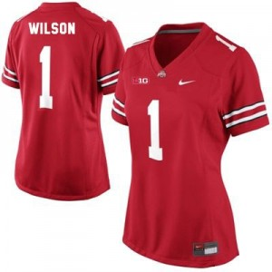 Nike Dontre Wilson Ohio State No.1 Women - Scarlet Red Football Jersey