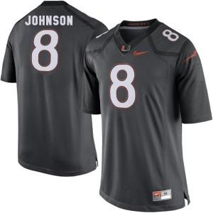 Nike Duke Johnson Miami Hurricanes No.8 - Black Football Jersey
