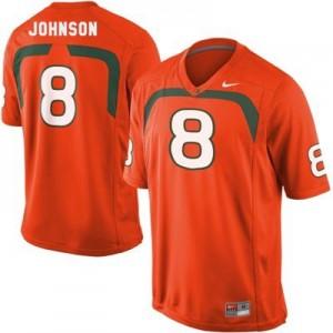 Nike Duke Johnson U of M Hurricanes No.8 - Orange Football Jersey