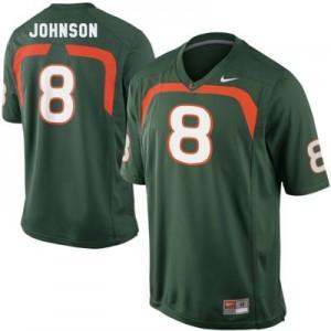 Nike Duke Johnson Miami Hurricanes No.8 Youth - Green Football Jersey