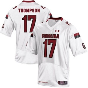 Under Armour Dylan Thompson South Carolina Gamecocks No.17 - White Football Jersey