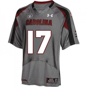 Under Armour Dylan Thompson South Carolina Gamecocks No.17 Youth - Gray Football Jersey