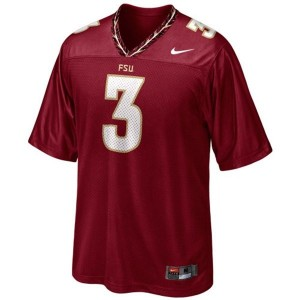 Nike EJ Manuel FSU No.3 - Red Football Jersey