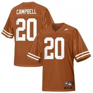 Nike Earl Campbell Texas Longhorns No.20 - Orange Football Jersey
