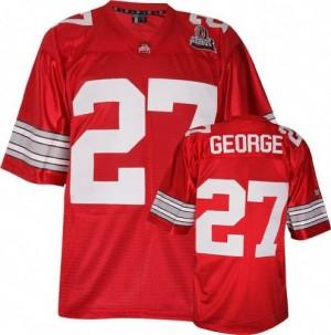 Nike Eddie George Ohio State Buckeyes No.27 - Scarlet Red Football Jersey
