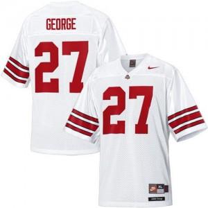 Nike Eddie George Ohio State Buckeyes No.27 - White Football Jersey