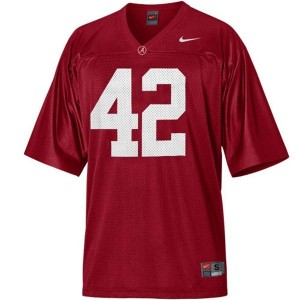 Nike Eddie Lacy Alabama Crimson Tide No.42 - Crimson Red Football Jersey