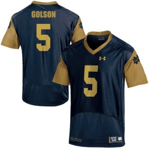 Adida Everett Golson Notre Dame Fighting Irish No.5 Shamrock Series - Blue Football Jersey