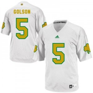 Adida Everett Golson Notre Dame Fighting Irish No.5 Shamrock Series - White Football Jersey
