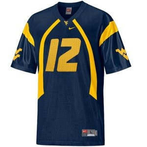 Nike Geno Smith West Virginia Mountaineers No.12 - Blue Football Jersey
