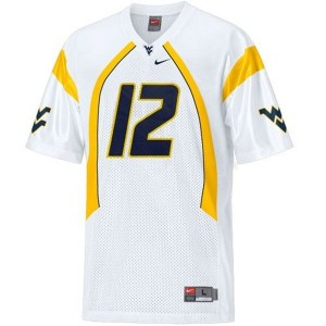 Nike Geno Smith West Virginia Mountaineers No.12 - White Football Jersey