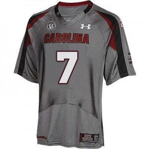 Under Armour Jadeveon Clowney South Carolina Gamecocks No.7 - Gray Football Jersey