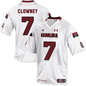 Under Armour Jadeveon Clowney South Carolina Gamecocks No.7 Youth - White Football Jersey