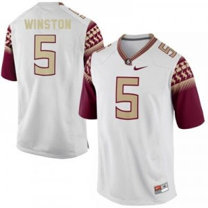 Nike Jameis Winston FSU No.5 - White Football Jersey