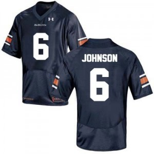 Under Armour Jeremy Johnson Auburn Tigers No.6 College - Blue Football Jersey