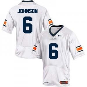 Under Armour Jeremy Johnson Auburn Tigers No.6 College - White Football Jersey