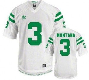 Adida Joe Montana Notre Dame Fighting Irish No.3 - White Football Jersey