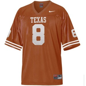 Nike Jordan Shipley Texas Longhorns No.8 - Orange Football Jersey