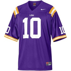 Nike Joseph Addai LSU Tigers No.10 Mesh Youth - Purple Football Jersey