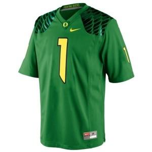 Nike Josh Huff Oregon Ducks No.1 Youth - Apple Green Football Jersey