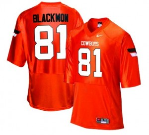 Nike Justin Blackmon Oklahoma State Cowboys No.81 - Orange Football Jersey