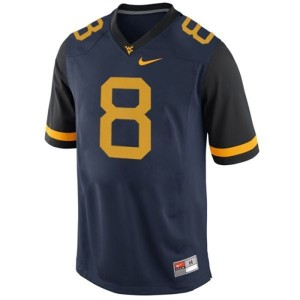 Nike Karl Joseph West Virginia Mountaineers No.8 - Blue Football Jersey